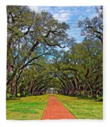 Oak Alley 3 Fleece Blanket