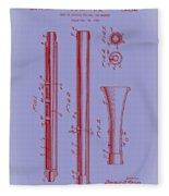 Oboe Patent 1931 Fleece Blanket