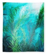 Ocean Plants Fleece Blanket
