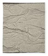 Ocean Sand Art Hearts Left Side Fleece Blanket
