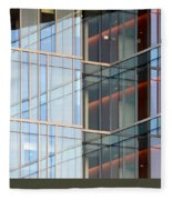 Office Building Windows Fleece Blanket