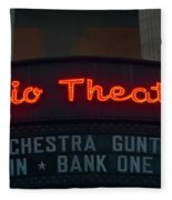 Ohio Theater Marquee Theater Sign Fleece Blanket