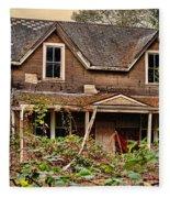 Old Abandon House Fleece Blanket