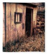 Old Barn Door Fleece Blanket