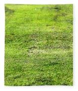 Old Green Grass Fleece Blanket