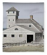 Old Harbor Lifesaving Station -- Cape Cod Fleece Blanket