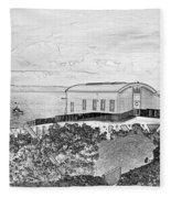 Old Lifeboat Station Tenby Fleece Blanket