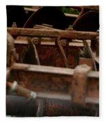 Old Farm Machine Fleece Blanket