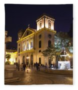 Old Portuguese Colonial Church In Macau Macao China Fleece Blanket