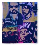 Old School Hip Hop 3 Fleece Blanket