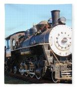 Old Steam Engine  Fleece Blanket