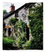 Old Terrace Houses - Peak District - England Fleece Blanket