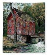 Old Time Mill Fleece Blanket