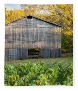 Old Tobacco Barn Fleece Blanket