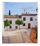 Old Town In Cordoba Fleece Blanket