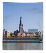 Old Town With Lambertus Church Fleece Blanket