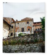 Old Towns Of Tuscany San Gimignano Italy Fleece Blanket