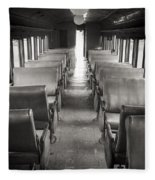 Old Train Seats Fleece Blanket