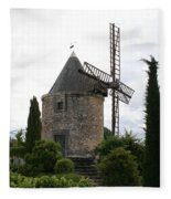 Old Provencal Windmill Fleece Blanket