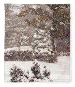 On A Winter Day Fleece Blanket