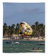 On The Beach Fleece Blanket