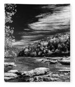 On The River Fleece Blanket