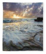 On The Rocks Fleece Blanket