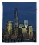 One World Trade Center At Twilight Fleece Blanket