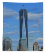One World Trade Center Fleece Blanket