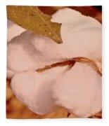 Open Cotton Boll Fleece Blanket