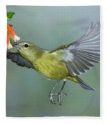 Orange-crowned Warbler Fleece Blanket