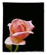 Orange Rose Bud Fleece Blanket