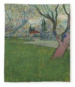 Orchards In Blossom Fleece Blanket