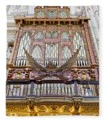 Organ In Cordoba Cathedral Fleece Blanket