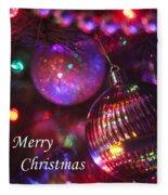 Ornaments-2160-merrychristmas Fleece Blanket