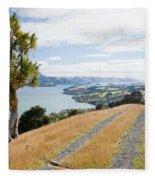 Otago Peninsula Coastal Landscape Dunedin Nz Fleece Blanket