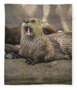 Otter North American  Fleece Blanket