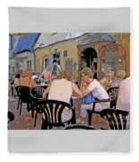 Outside Seating Fleece Blanket