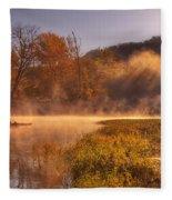 Paddling In Mist Fleece Blanket