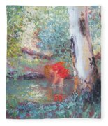 Paddling In The Creek Fleece Blanket