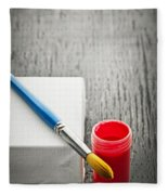 Paintbrush On Canvas Fleece Blanket