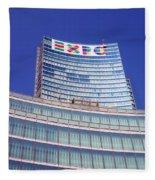 Palazzo Lombardia Fleece Blanket