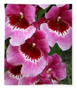 Pansy Orchid 1 Fleece Blanket