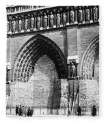 Paris Notre Dame, 1918 Fleece Blanket