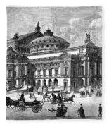 Paris Opera House, 1875 Fleece Blanket