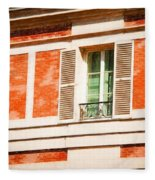 Paris Windows Fleece Blanket