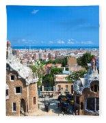 Park Guell In Barcelona Fleece Blanket