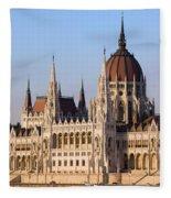 Parliament Building In Budapest Fleece Blanket
