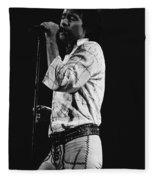 Paul Singing In Spokane 1977 Fleece Blanket
