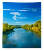 Peaceful Payette River Fleece Blanket